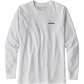 Patagonia P-6 Logo Responsibili-Tee Longsleeve Shirt Herre white